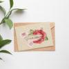 Открытка на татарском Открыто письмо с розой